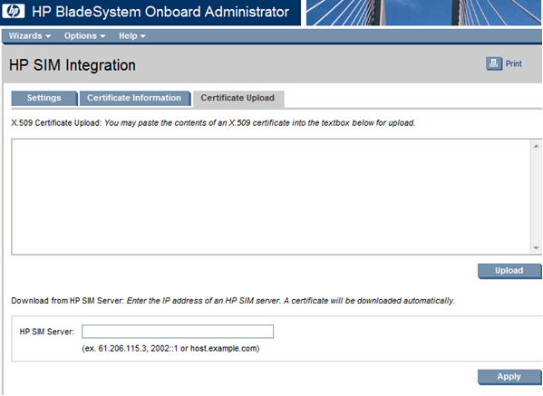 HP BladeSystem 146804 HP SIM integration