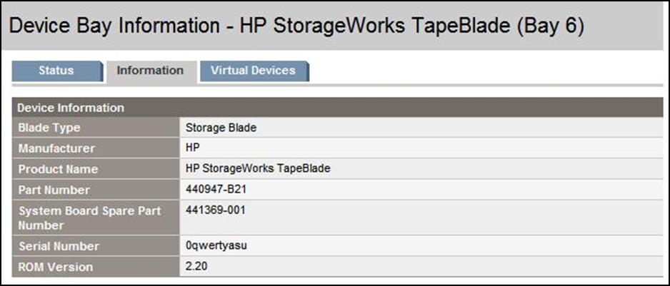 HP BladeSystem 146912 Storage blades