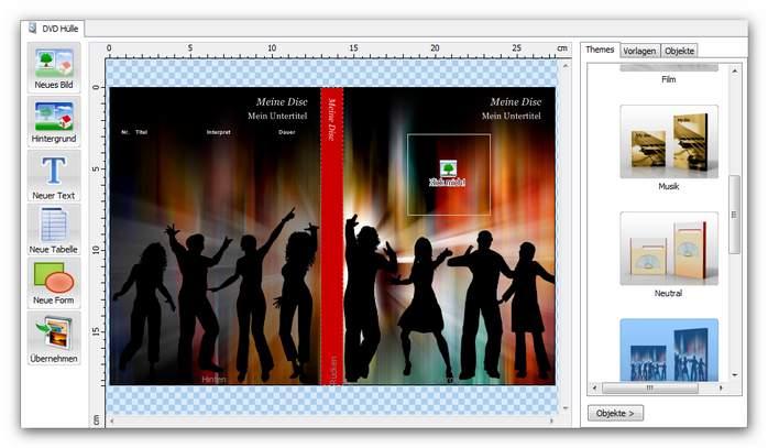Burning Studio covermain.zoom70 Etiketten und Hüllen drucken und erstellen