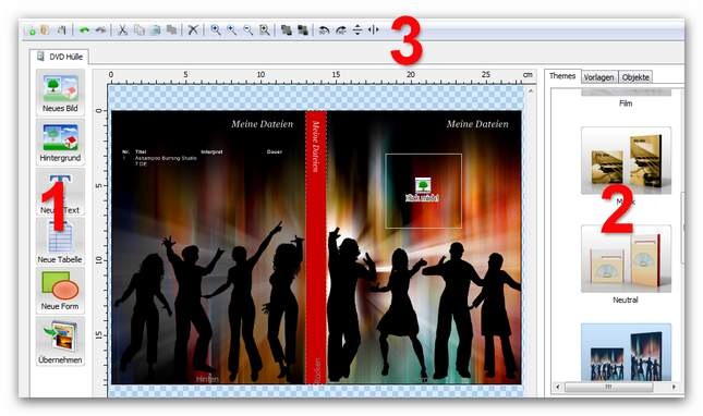 Burning Studio editcover.zoom65 Cover gestalten
