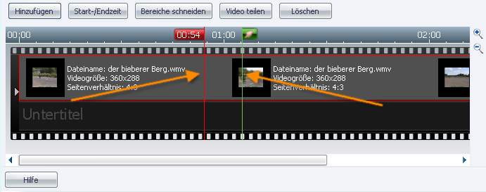 Burning Studio me1 Navigation im Film