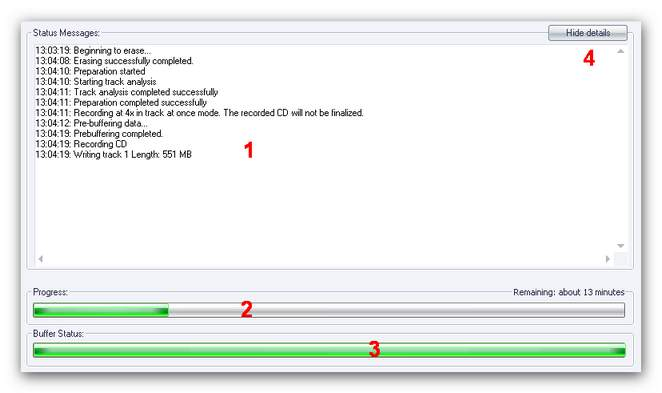 Burning Studio bd statusscreen display 2.zoom80 CD/DVD/Blu Ray Disc Image Status