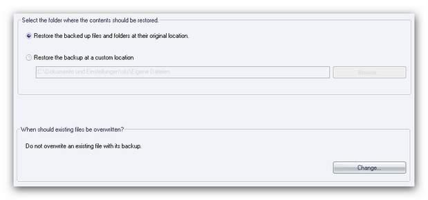 Burning Studio restore main 2.zoom75 Restore Options