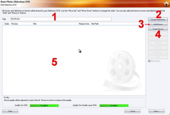 Burning Studio slideshow1.zoom65 Create a Photo Slideshow DVD
