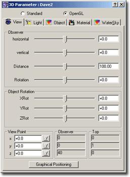 ChaosPro 3d opengl view 3D Parameter Window   View