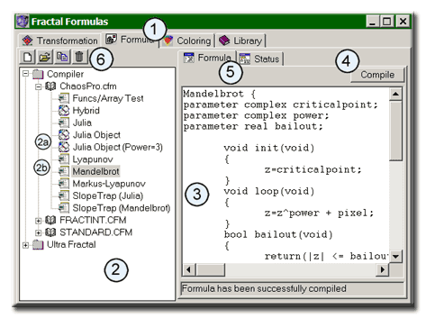 ChaosPro compiler Writing Formulas