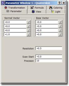 ChaosPro quatparm Parameter Tab