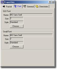 ChaosPro settingsfont Font options