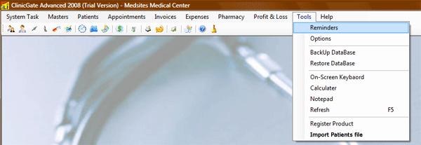 ClinicGate menutool Tools