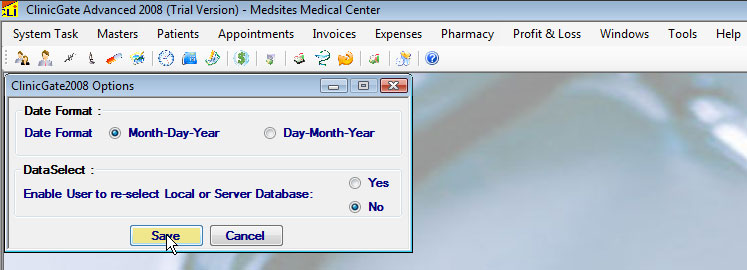 ClinicGate option Options