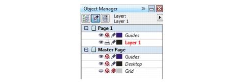 CorelDRAW layers default Creating layers