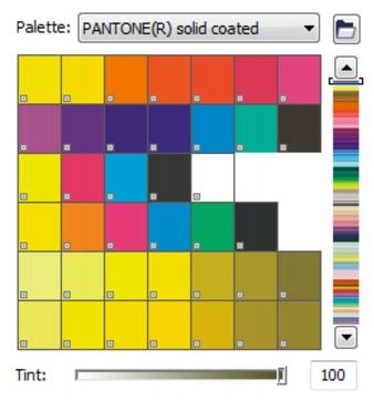 CorelDRAW loc color pantone solid coated Choosing colors
