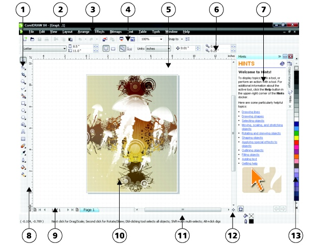 CorelDRAW loc wkspc app windowdraw2 Application window