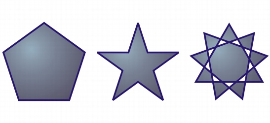 CorelDRAW shapes polygon stars Drawing polygons and stars