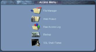 Cpanel accessmenu Access Menu