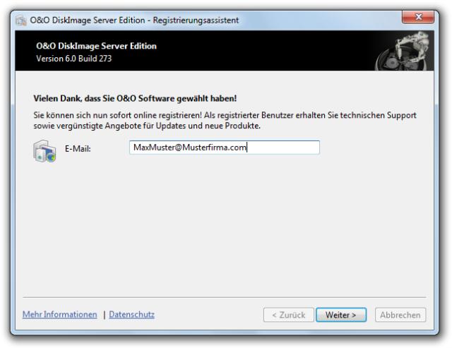 O&O DiskImage online registrierung 640x493 Online Registrierung