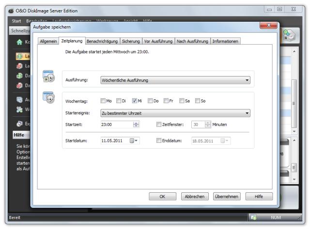 O&O DiskImage oodi6 aufgabe zeitplanung 640x477 Zeitplan festlegen