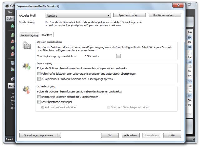 O&O DiskImage oodi6 duplizierung optionen erw 640x471 Einstellungen für die Duplizierung von Laufwerken