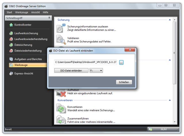 O&O DiskImage oodi6 iso einbinden 640x473 ISO Datei als Laufwerk einbinden