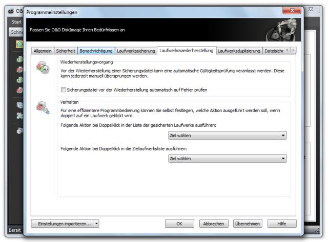 O&O DiskImage oodi6 programmeinstellungen lw wiederherstellung 640x473 Voreinstellung für Laufwerkwiederherstellung ändern