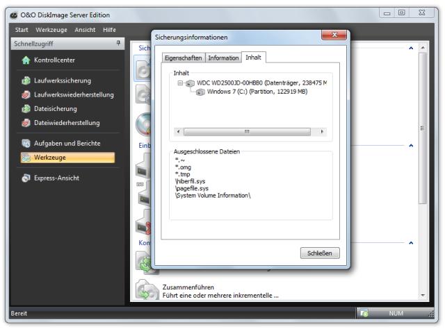 O&O DiskImage oodi6 sicherungsinfos 640x474 Sicherungsinformationen auslesen