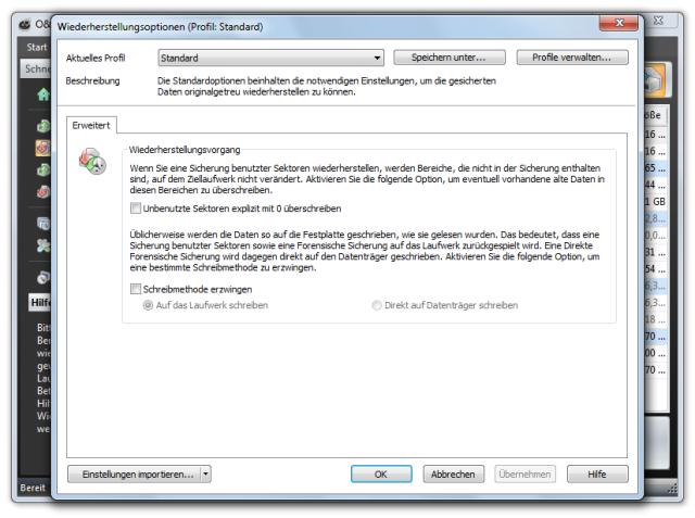 O&O DiskImage oodi6 wiederherstellungsoptionen 640x477 Einstellungen für die Wiederherstellung von Laufwerken