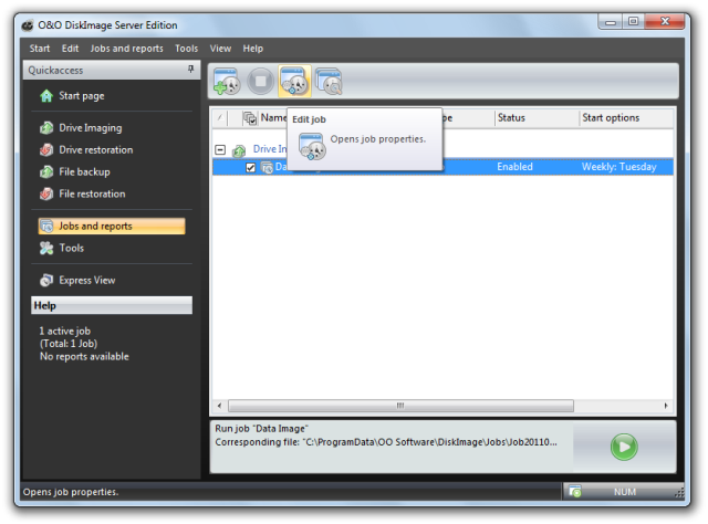 O&O DiskImage oodi6 aufgabenliste bearbeiten 640x474 Edit jobs
