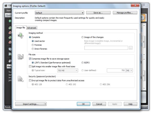 O&O DiskImage oodi6 sicherungsoptionen 640x474 Settings for drive imaging