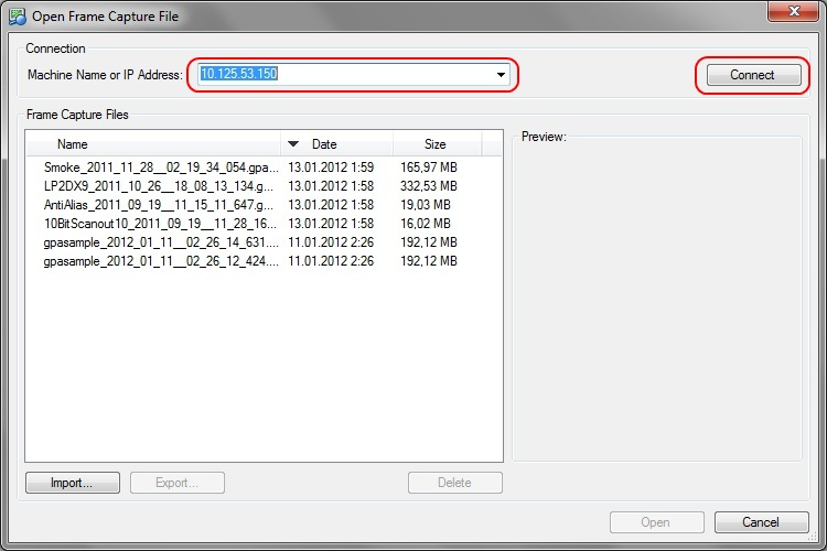 Intel Graphics Performance Analyzers fa connect remote Loading a Frame Capture File