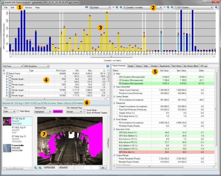 Intel Graphics Performance Analyzers fa ini gui About the Graphical User Interface
