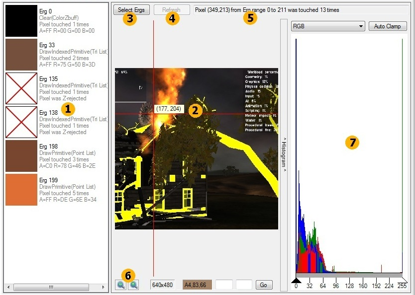 Intel Graphics Performance Analyzers fa pixel history Pixel History Tab