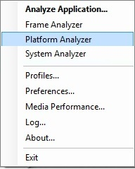 Intel Graphics Performance Analyzers m tools launch Launching the Intel® GPA Tools
