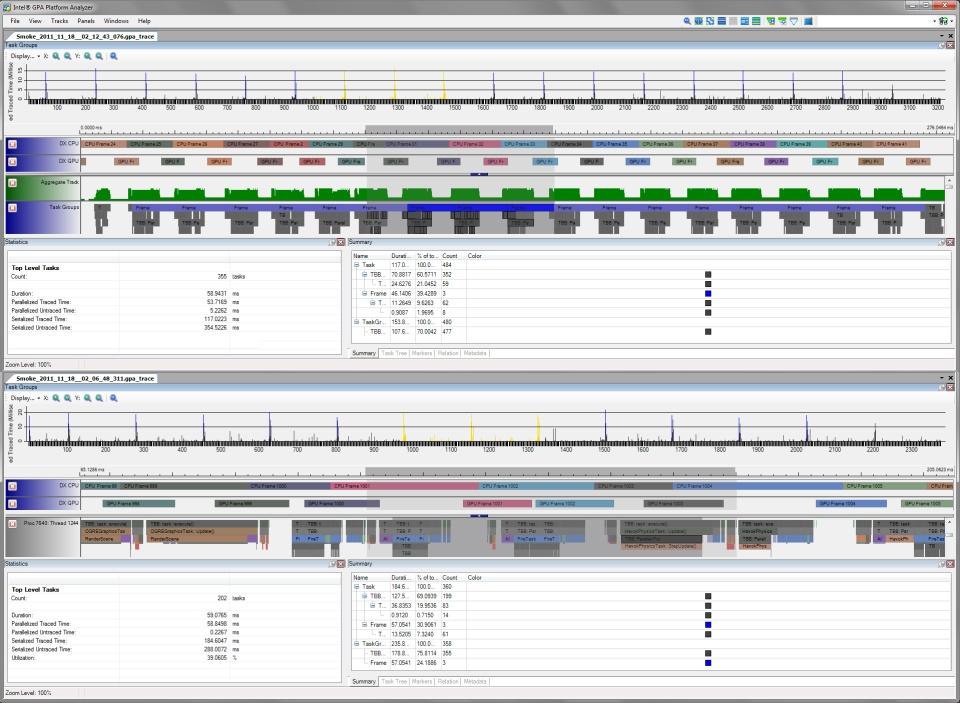 Intel Graphics Performance Analyzers pa horiz tab Loading Multiple Trace Capture Files