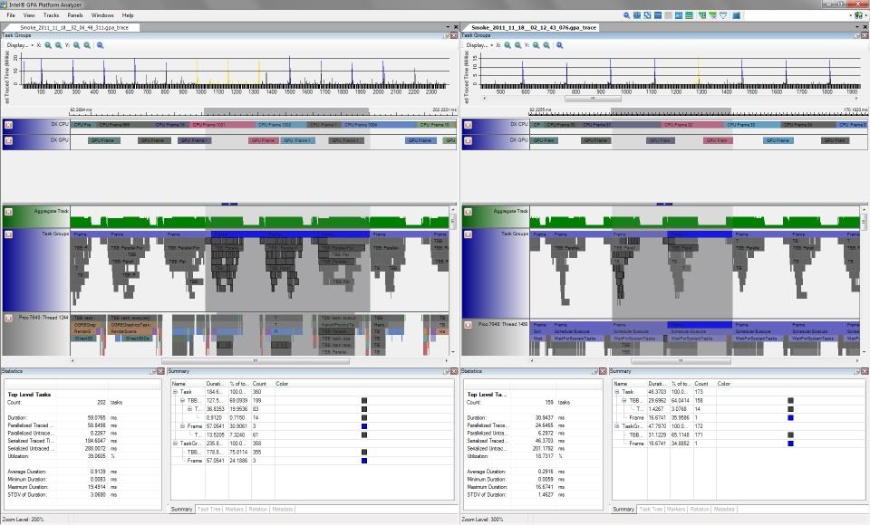 Intel Graphics Performance Analyzers pa vert tab Loading Multiple Trace Capture Files