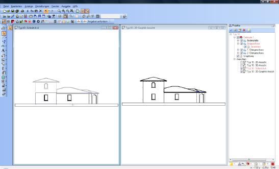 Home Designer image11 179 2D Grafik Ansicht und Parallel Perspektive