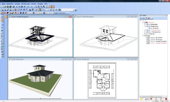 Home Designer image11 181 2D Grafik Ansicht und Parallel Perspektive