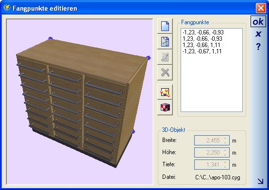 Home Designer image11 234 Fangpunkte für 3D Objekte