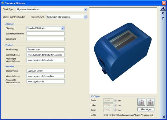 Home Designer image11 241 Herstellerdaten in 3D Objekten, Chunk Typ Allgemeine Informationen