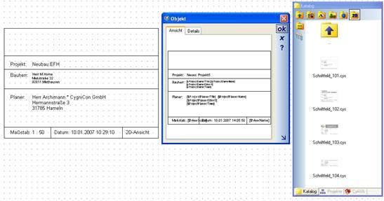 Home Designer image11 327 Schriftfelder, Autotext in 2D Symbolen