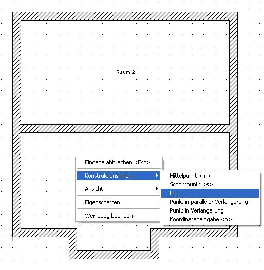 Home Designer image11 37 Beispiel zur Verwendung von Konstruktionshilfen