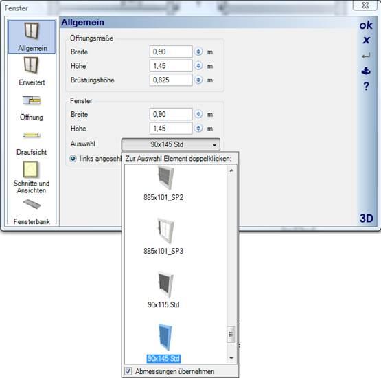 Home Designer image11 378 Katalogauswahl von Fenstern und Türen