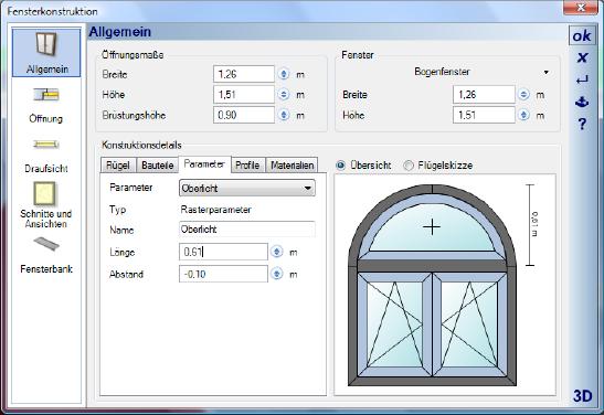 Home Designer image11 392 Bearbeiten von Fensterkonstruktionen
