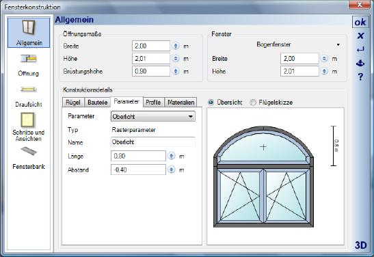 Home Designer image11 394 Bearbeiten von Fensterkonstruktionen