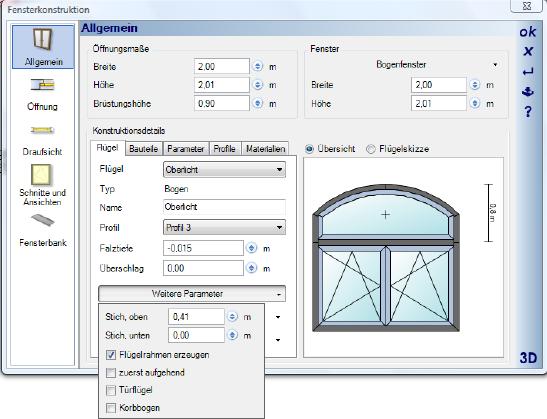 Home Designer image11 395 Bearbeiten von Fensterkonstruktionen