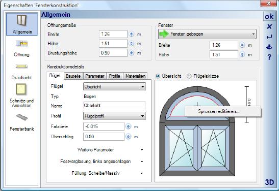 Home Designer image11 399 Sprossen für Fensterkonstruktionen