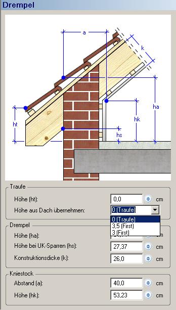 Home Designer image11 445 Dachseite 1/Drempel