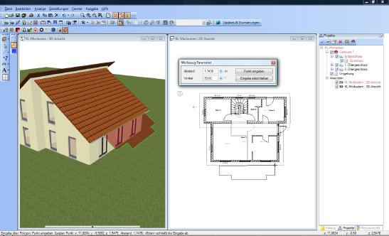 Home Designer image11 528 Eingabe Rechteck und Polygon