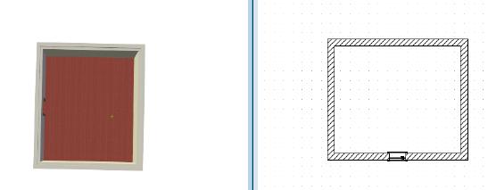 Home Designer image11 588 Linienzug, Beispiel Fussleisten