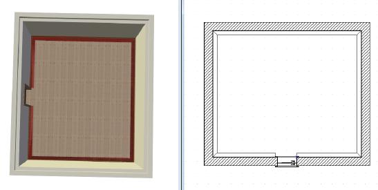 Home Designer image11 591 Linienzug, Beispiel Fussleisten