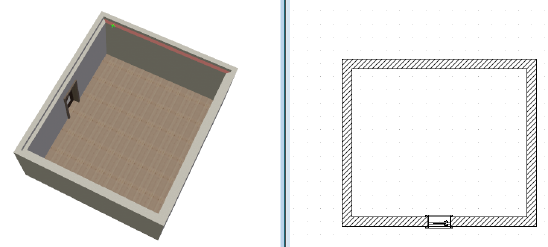 Home Designer image11 593 Polygon, Beispiel Deckenprofil